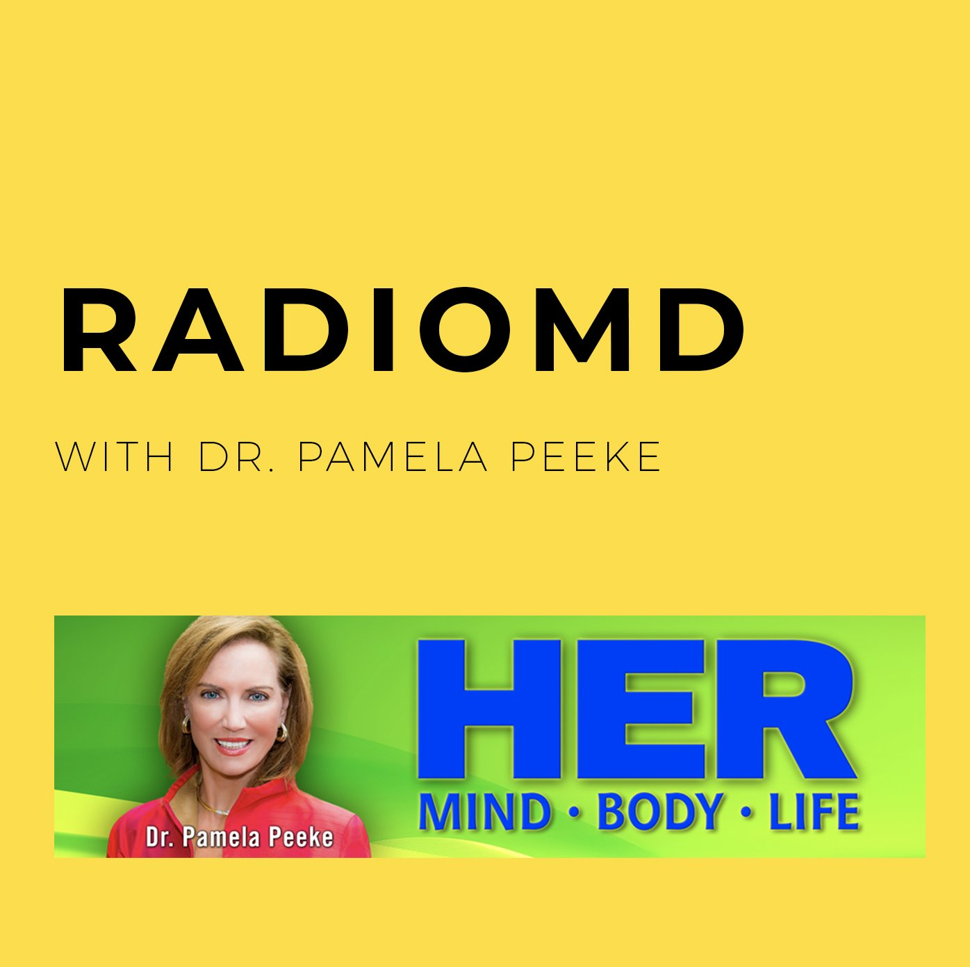 Overcome Your Food Demons with Intensive Mindfulness- Interview on RadioMD with Dr. Pamela Peeke